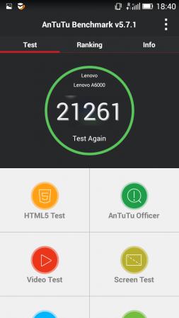 Lenovo A6000 Plus Antutu score