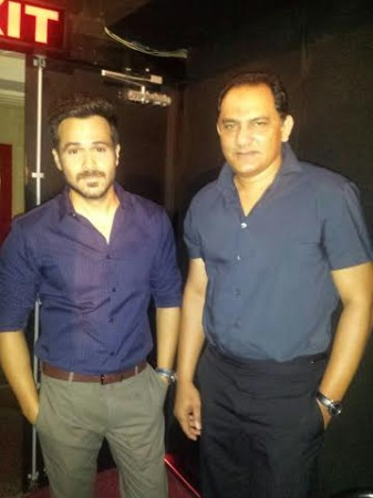 Emraan Hashmi and Mohammad Azharuddin