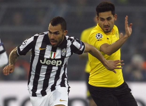 Carlos Tevez Juventus Ilkay Gundogan Borussia Dortmund