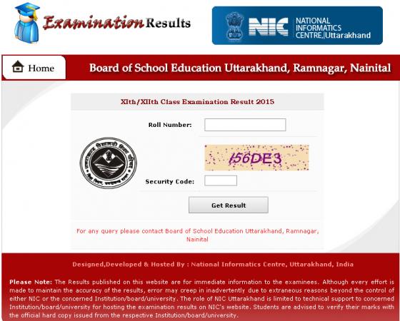 Uttarakhand Board exam results announced