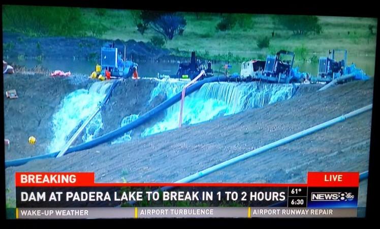 Flash flood alert released over immenient dam breaking in Ellis County
