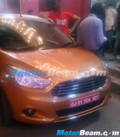 2015 Ford Figo Hatchback Spied Completely Undisguised