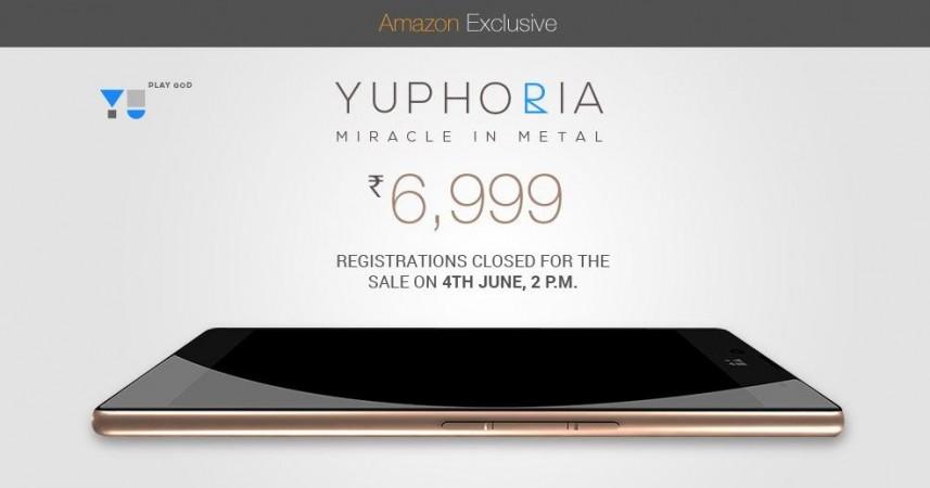 Micromax YU Yuphoria Amazon India Flash Sale 2.0 to Go Live on 4 June