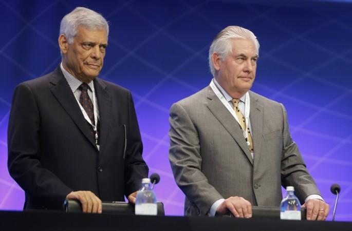 OPEC Secretary-General Abdullah al-Badri and Exxon Mobil CEO Rex Tillerson