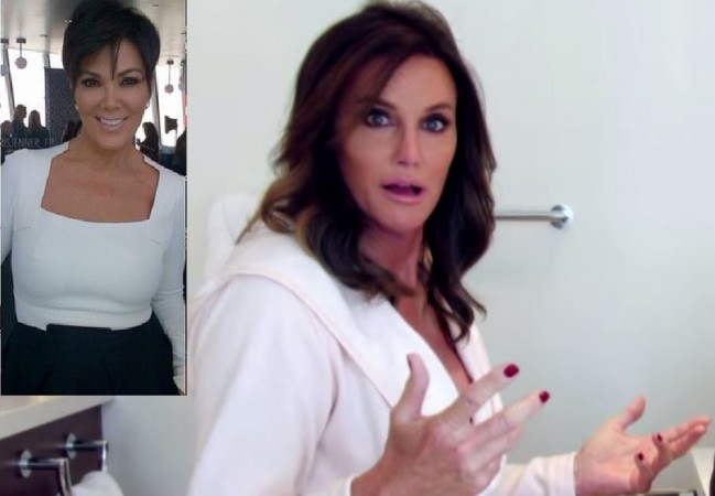 A still from Caitlyn Jenner's new show; (inset) Kris Jenner