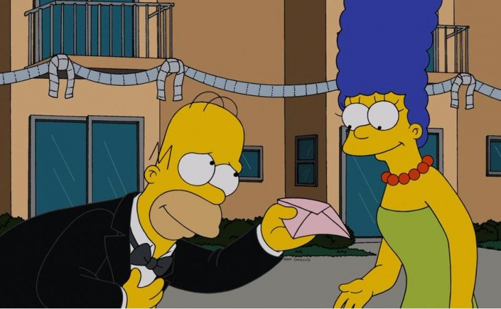 Homer and Marge in The Simpsons