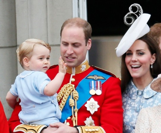 Prince George with Prince William and Kate Middleton
