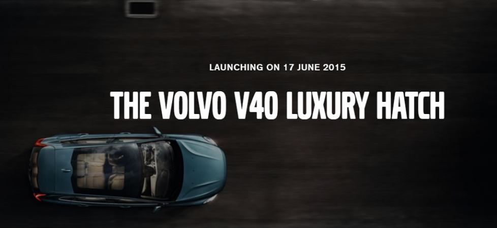 It's Official: Volvo V40 Hatchback India Launch on 17 June