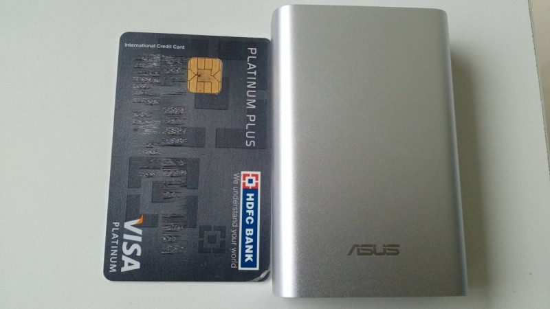 ASUS ZenPower offers similar width of a credit card but it is a couple mm longer