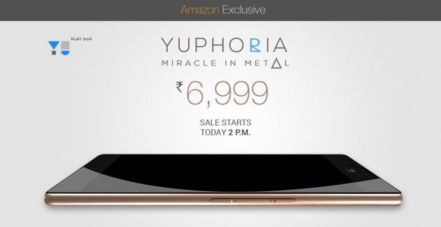 Amazon India to Host Micromax YU Yuphoria Flash Sale 4.0 on 18 June