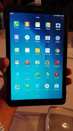 Samsung Galaxy Tab E- Front View