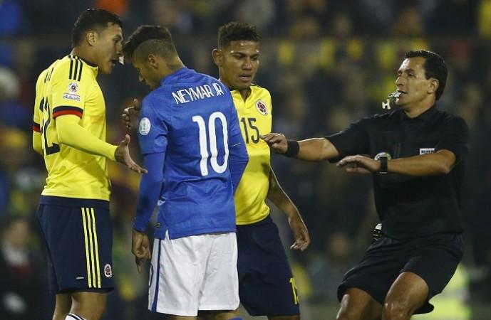 Neymar Brazil Jeison Murillo Colombia Copa America 2015