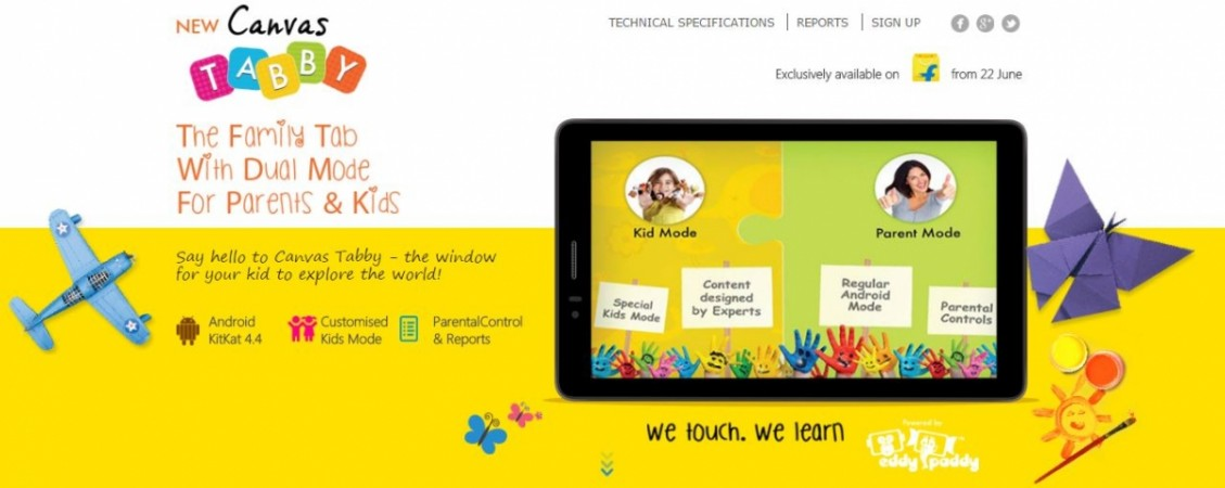 Micromax Launches Canvas Tabby Slate for Children in India; Price, Specifications