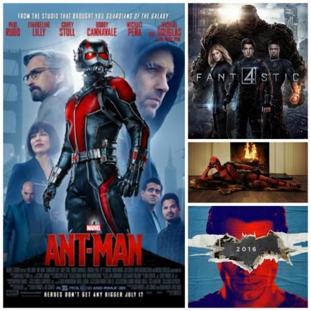 Superhero movies collage