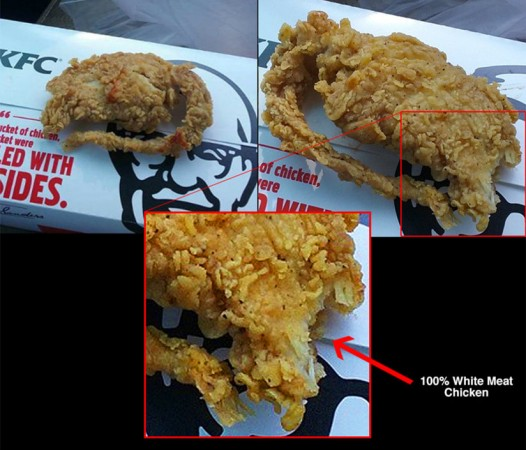KFC has said that the claim that a man found a deep fried rat after ordering tender chicken is a hoax