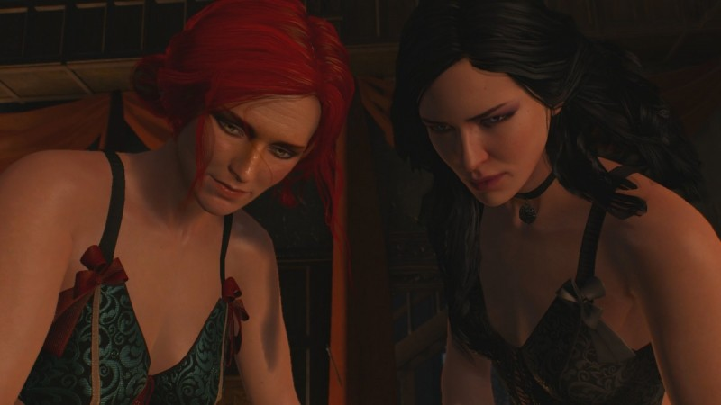 The Witcher 3 Threesome Scene