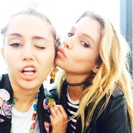 Miley Cyrus with Stella Maxwell