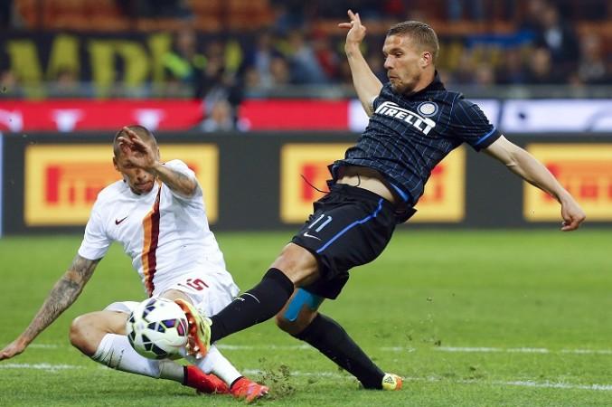 AS Roma Holebas Lukas Podolski Inter Milan