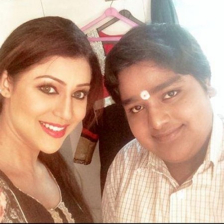 Manish Vishwakarma with Debina Bonnerjee