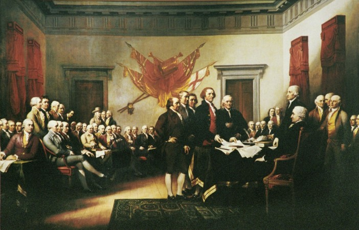 On 4 July, 1776, the Declaration of Independence was approved by the Second Continental Congress in Philadelphia