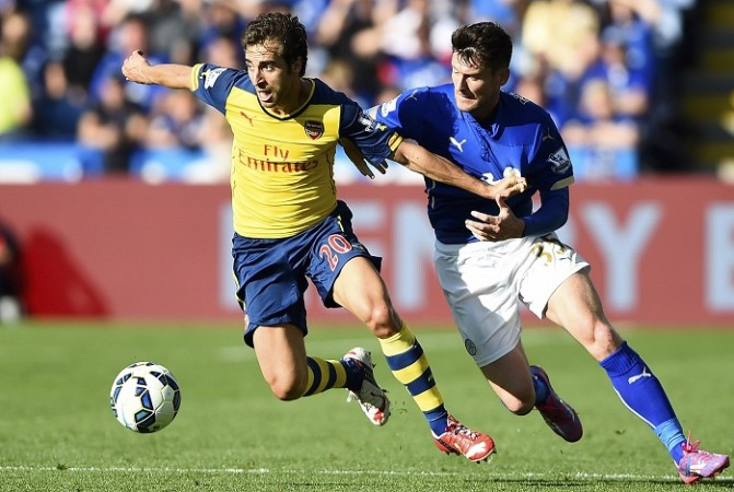 Mathieu Flamini Arsenal David Nugent Leicester City