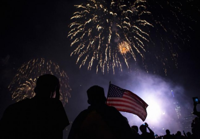 Macy's Fourth of July Fireworks are watched by thousands across Manhattan, Brooklyn and Queens.