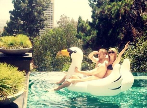DJ Calvin Harris with Taylor Swift