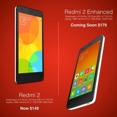 Xiaomi Launches Enhanced Redmi 2 Edition to Take on Lenovo A6000 Plus