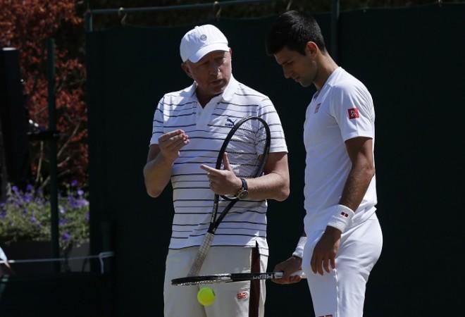 Boris Becker Novak Djokovic Wimbledon 2015