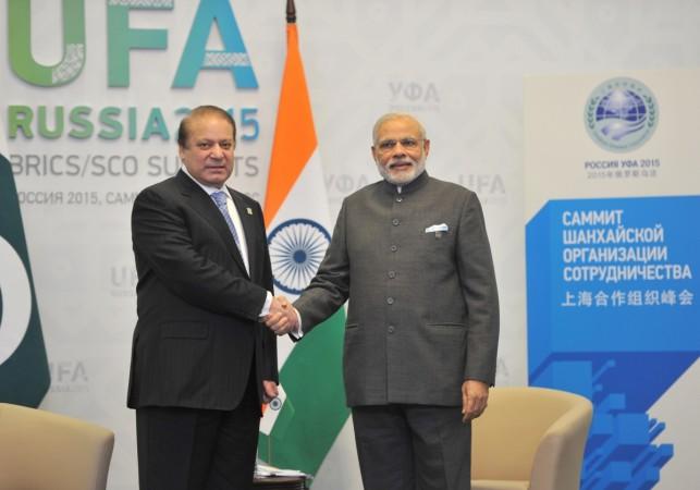 Modi Sharif meeting Russia Ufa SCO Summit