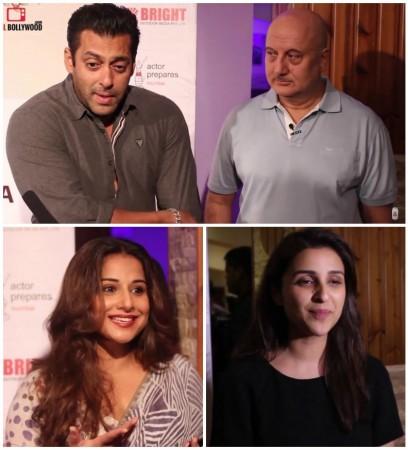 Salman Khan, Anupam Kher, Vidya Balan and Parineeti Chopra