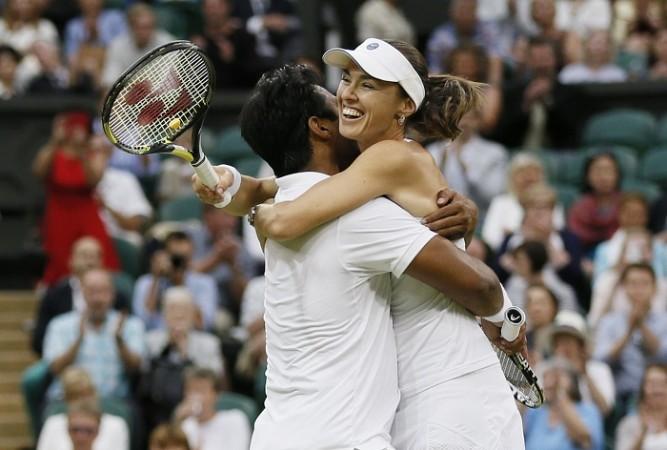 Leander Paes Martina Hingis Wimbledon 2015