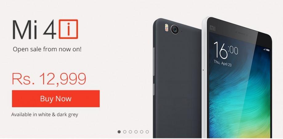 Xiaomi Mi 4i Open Sale Goes Live Across All e-Commerce Sites in India