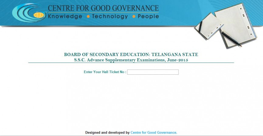 Telangana SSC (class 10) Advance Supplementary results 2015