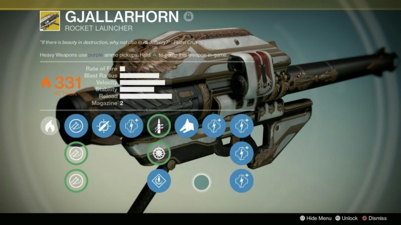 Destiny's Gjallarhorn Exotic