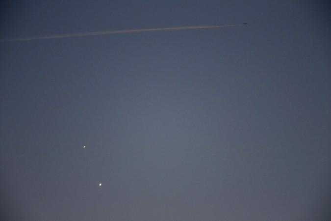 Moon, Venus and Jupiter conjunction