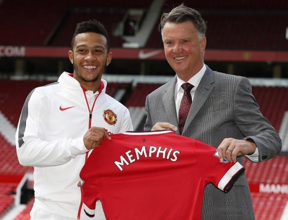 Memphis Depay Louis Van Gaal Manchester United