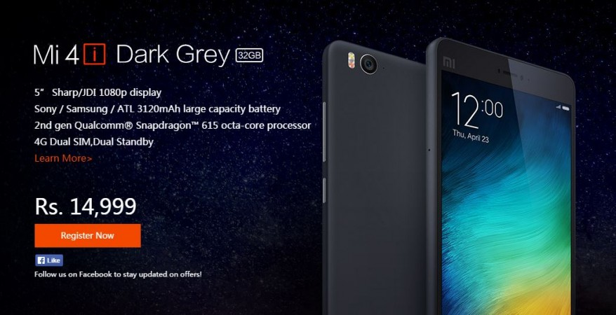 Xiaomi Mi 4i 32GB Officially Launched in India; To Go on Sale on 28 July