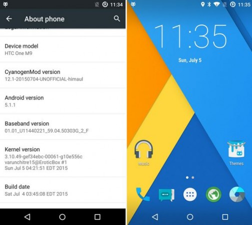CyanogenMod [Unofficial] Android 5.1.1 Lollipop CM12.1 Custom ROM Now Available to HTC One (M9) [How to Install]