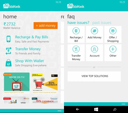 Mobikwik Updates its Windows Mobile App with new features