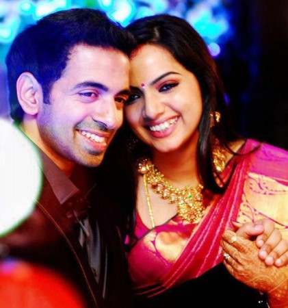 Samvrutha Sunil with her husband Akhil