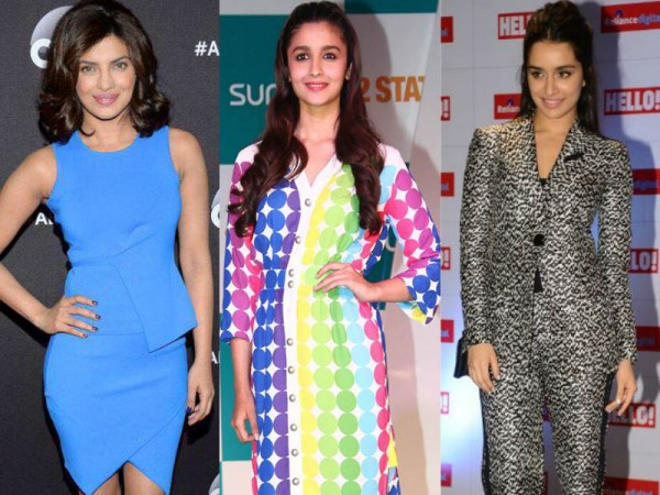 Priyanka Chopra, Alia Bhatt, Shraddha Kapoor