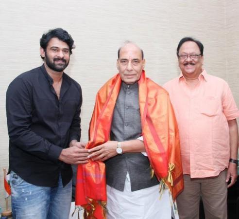 Prabhas, Rajnath Singh, Krishnam Raju