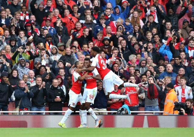 Theo Walcott Jeff Reine-Adelaide Chuba Akpom Arsenal