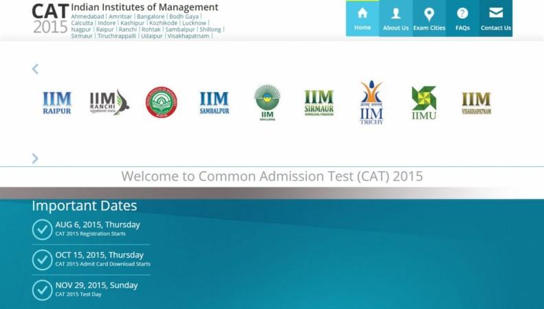 CAT 2015 schedule Common Aptitude Test
