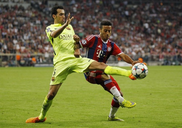 Sergio Busquets Barcelona Thiago Alcantara Bayern Munich