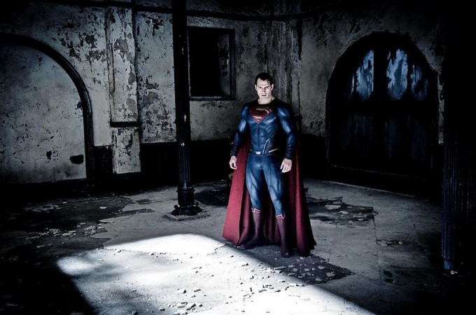 One of the set of 'Batman V Superman' photos released by Empire Magazine