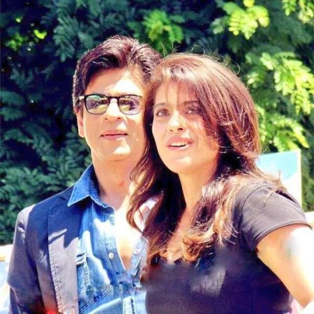Shah Rukh-Kajol on the sets of 'Dilwale'