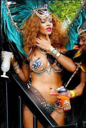 Rihanna at Carnival in Barbados