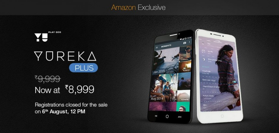 Rs 8,999 YU Yureka Plus Flash Sale: Amazon Exclusive Sale To Commence 6 August At 12PM